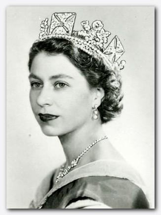 Slika 20 - Kraljica Elizabeta II. na dan svojega kronanja