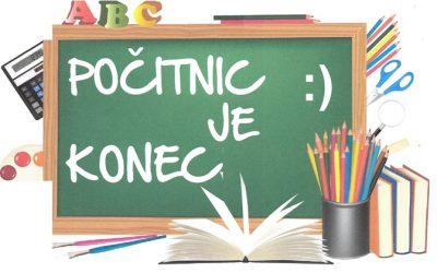 Prvi šolski dan – ponedeljek, 2. 9. 2019